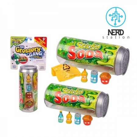 Sticky Soda Grossery Gang Trash Pack گروسری گنگ از دنیای ترش پکها نوشابه چسبناک