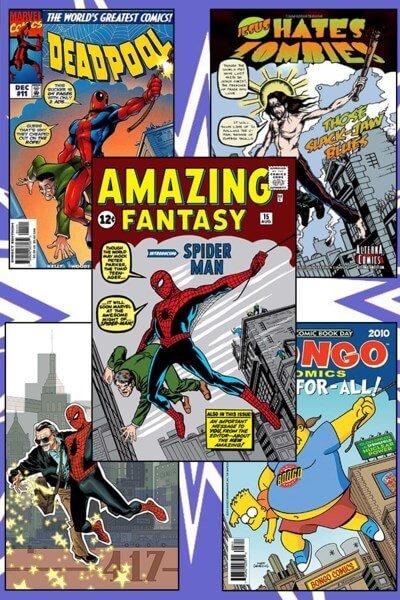 کاور کتاب کمیک amazing fantasy