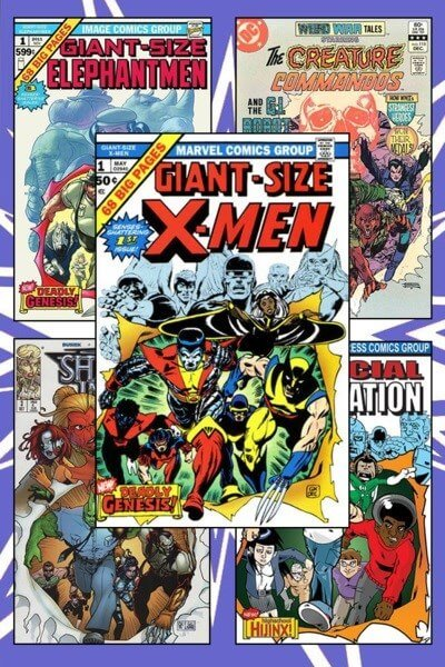کاور کتاب کمیک gian size X-men
