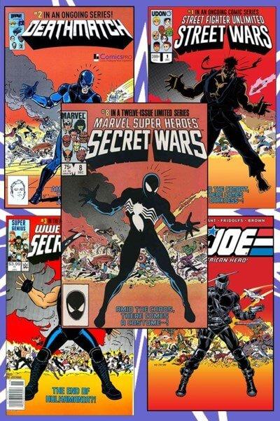 کتاب کمیک Marvel super heroes secret wars