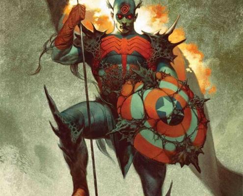 جلد کمیک کاپیتان آمریکا با طراحی Knullifying