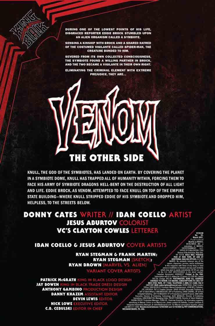 کتاب کمیک venom