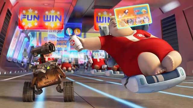 WALL-E یکی از بهترین انیمیشن های عاشقانه اما تخیلی