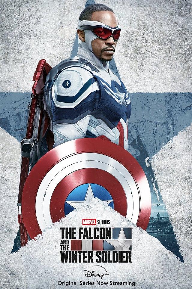پوستر جدید سریال فالکون با تم کاپیتان امریکا منتشر شد